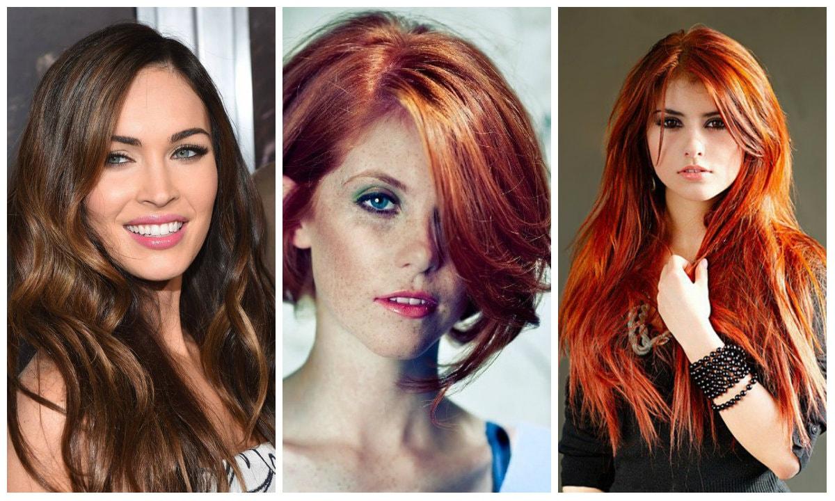 модное окрашивание волос для рыжих 2017 фото