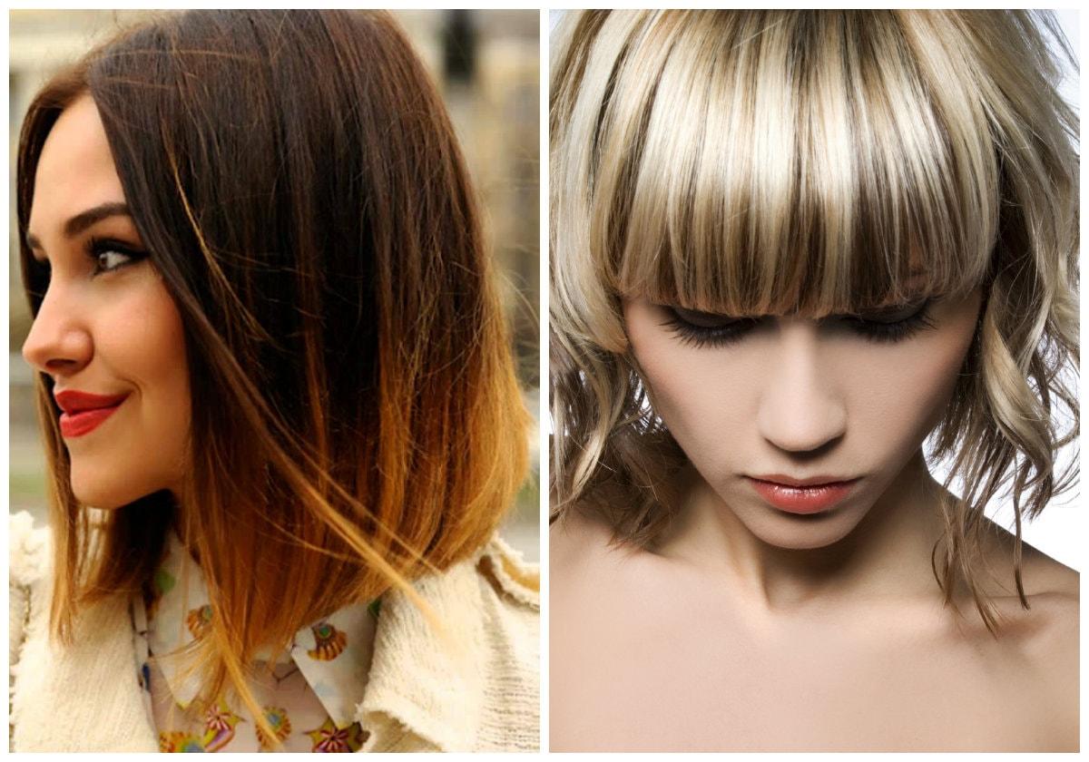 Модное окрашивание в 2017 на средние волосы женские