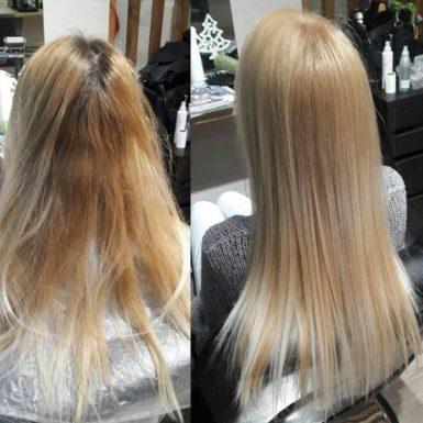 Окрашивание волос: фото до и после