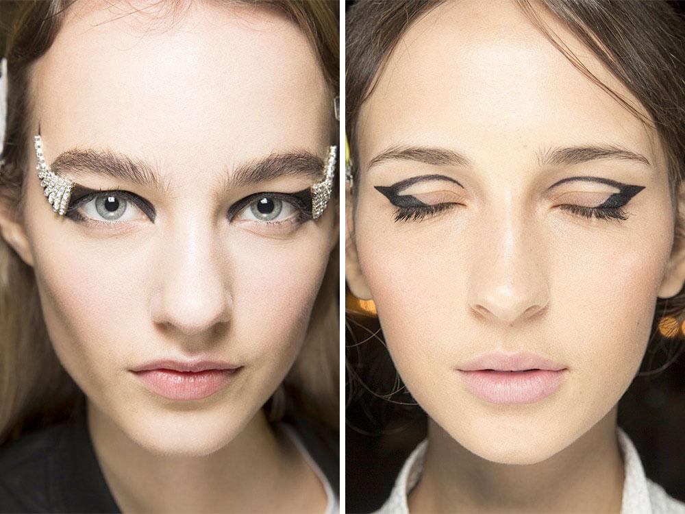 Графичный макияж глаз