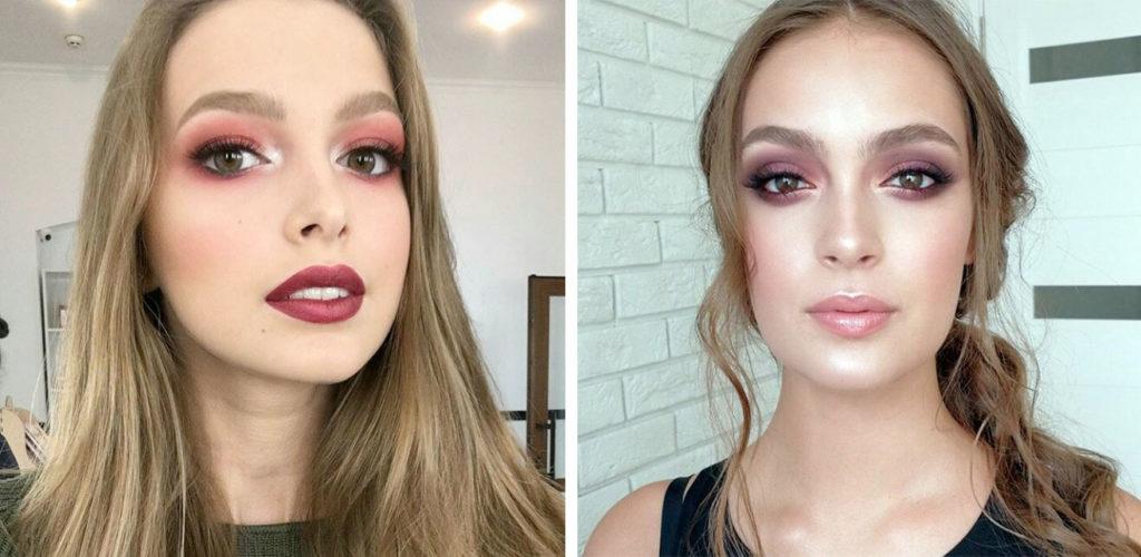 макияж широкие брови фото