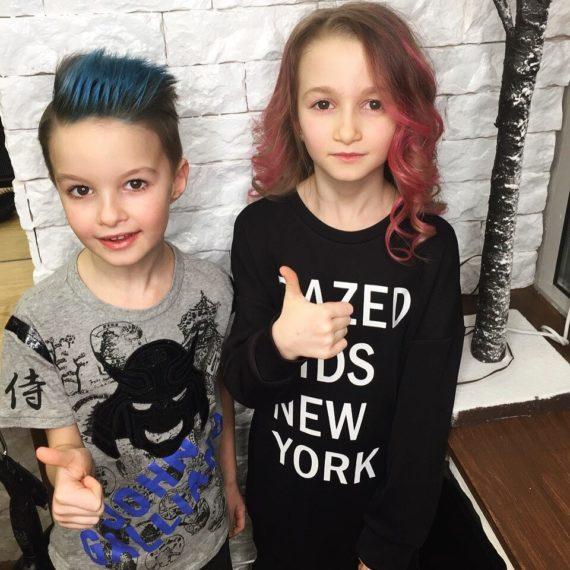Детское окрашивание волос фото