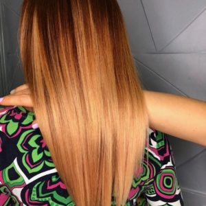Яркое окрашивание волос фото