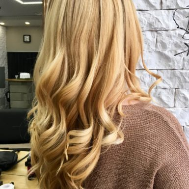 Окрашивание и укладка волос фото