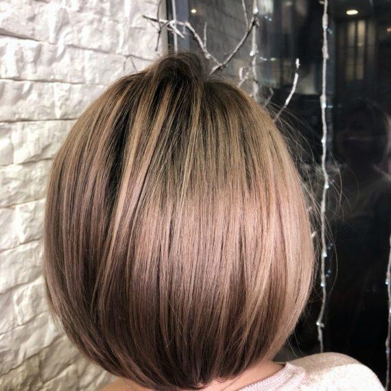 Окрашивание на темные волосы фото