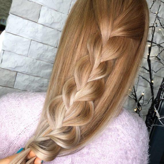 Окрашивание на светлые волосы фото