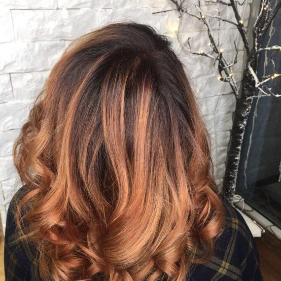 Модное окрашивание волос фото
