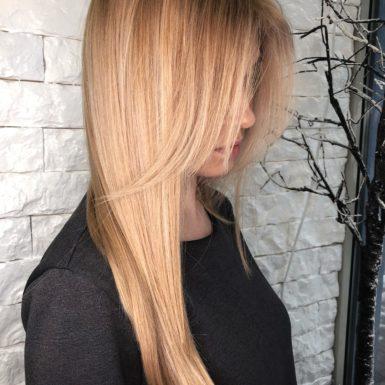Окрашивание волос на светлые волосы фото