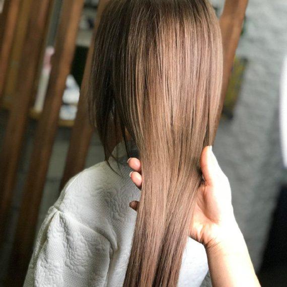 трендовое окрашивание и наращивание волос фото